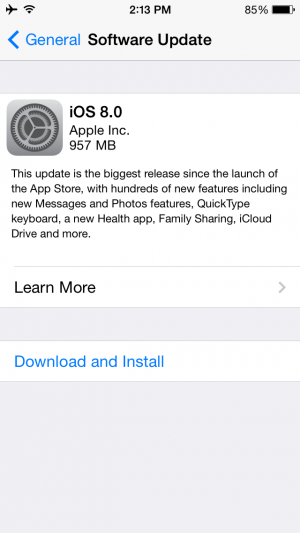 iOS 8 Now Available